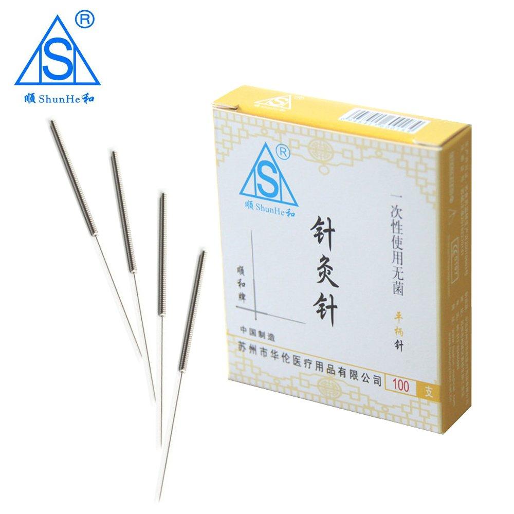 spring(sujok) handle acupuncture needle