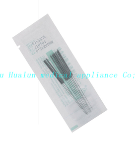 Stainless Steel Flat 10 Needles Acupuncture Needles