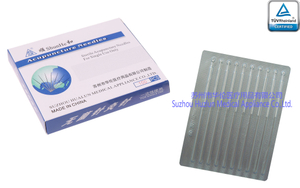 Disposable Sterile Silver Handle Acupuncture Needles Without Tube